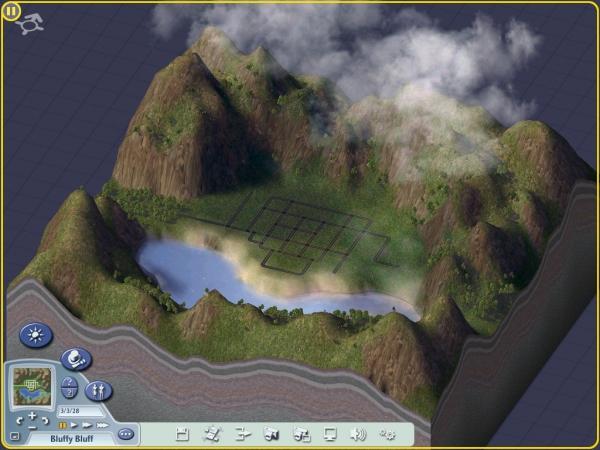 Shady Bluff Terrain in Sim City 4