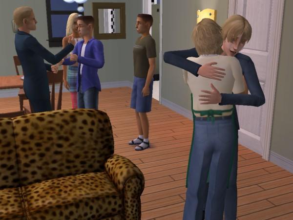 Ferris hugs George