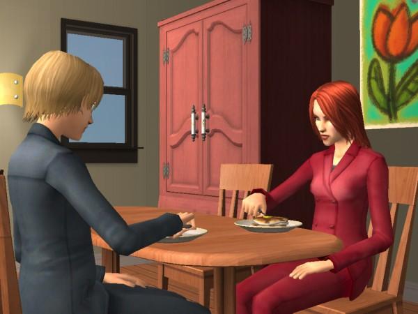 Ferris and Tess eat pancakes