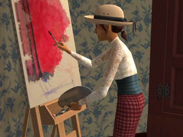 Cecily paints