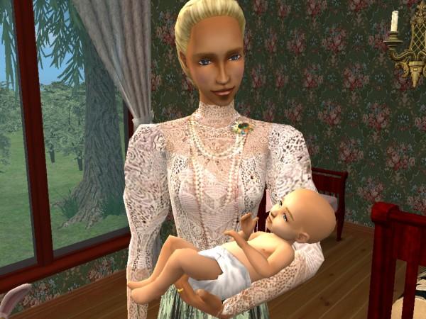 Arianna holds Paulina