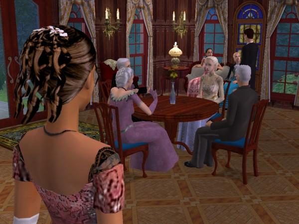 Cecily surveys the ballroom