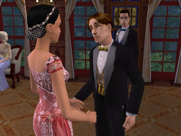 James talks with Josephine