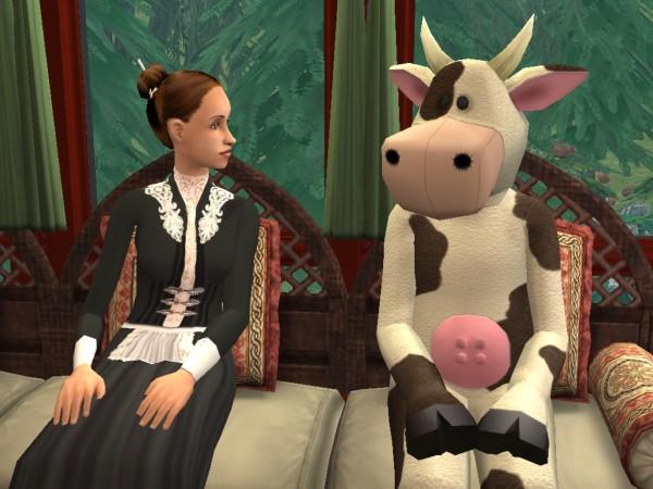 Carol, meet the cow mascot