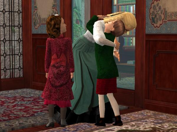 Morgan hugs Nellie