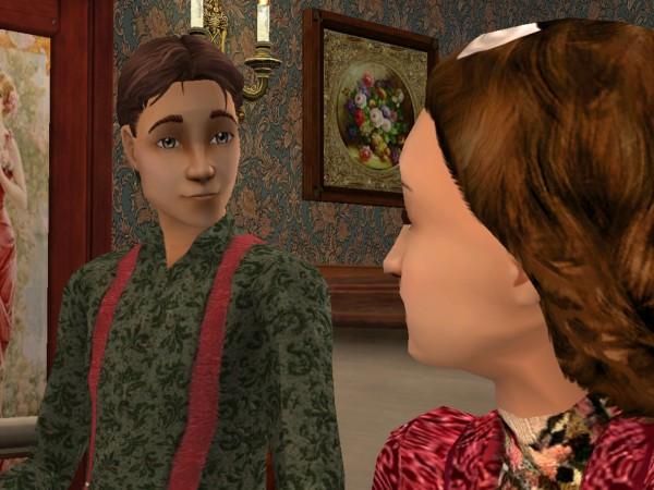 Tom looking at Maddie with big eyes