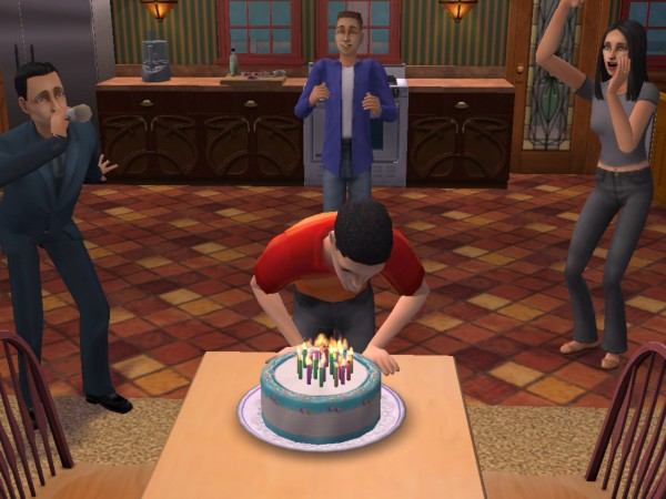 Rory blows out the candles on his cake