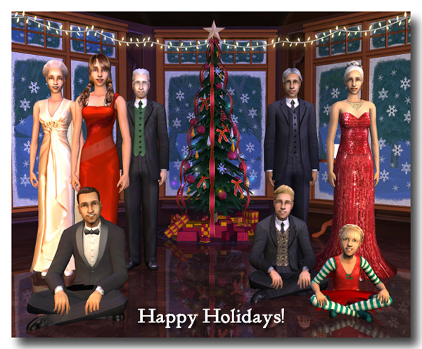 Happy Holidays from the Burrs and the Ravelos
