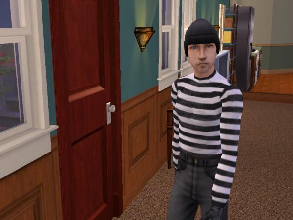Joey in his burglar get-up