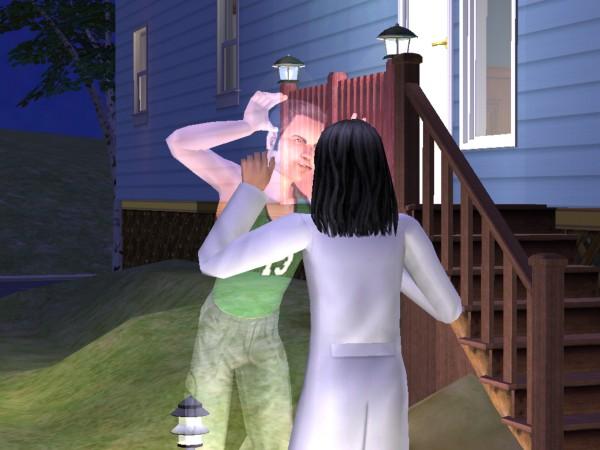 Tiffy sees Sid's ghost