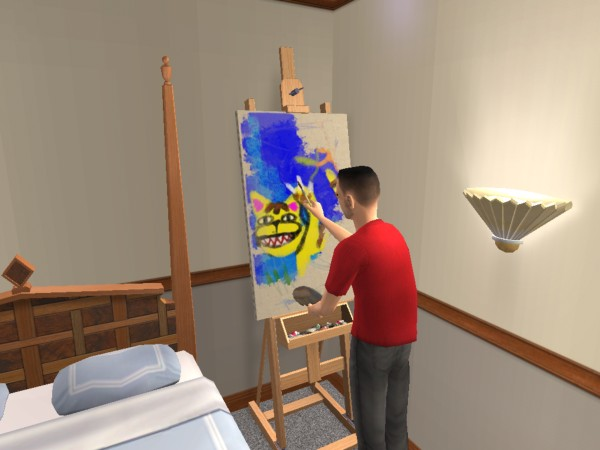 Joey paints weird pictures
