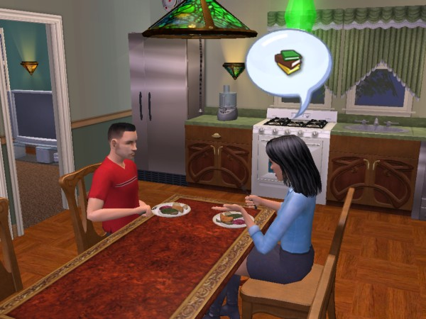 Tiffy and Joey eat dinner