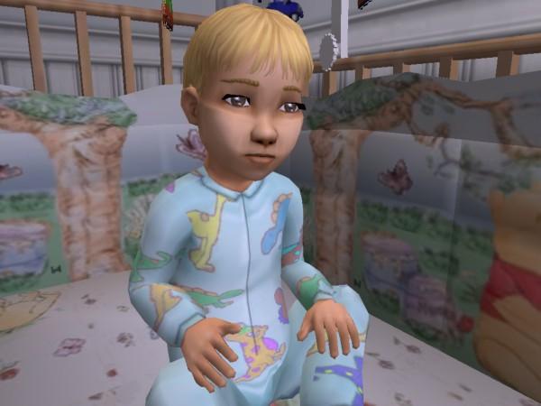 Shea in her crib