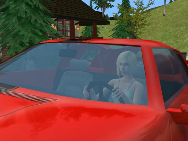 Bailey in the Ferrari