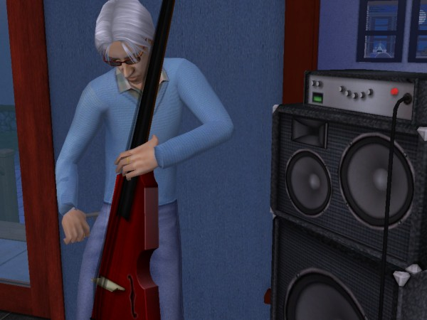Marcel plays bass