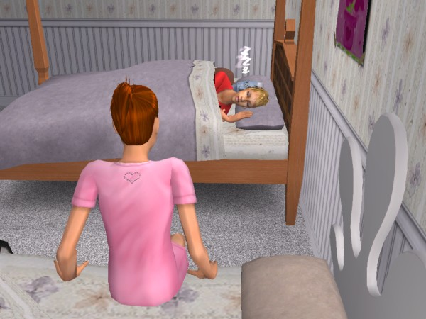 Ruby watches her parents sleeping