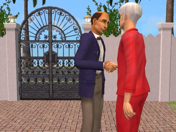 Marcel greets the headmaster