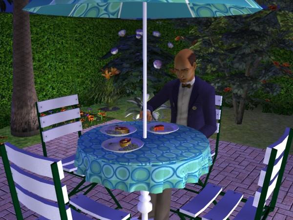 Mr. Walters eats his dinner