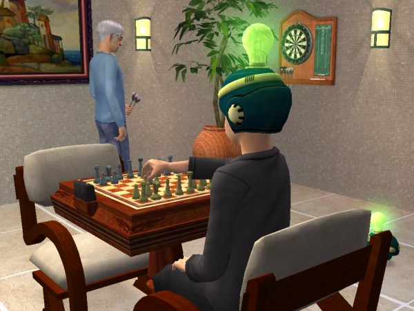 Thomas plays chess