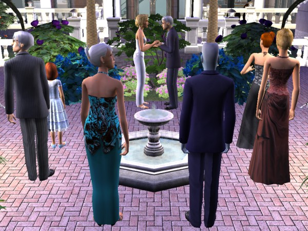 The family attends the wedding