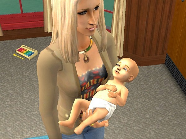 Demi holds baby Kyle