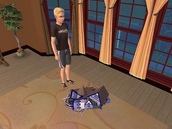 Kyle smashes the dollhouse